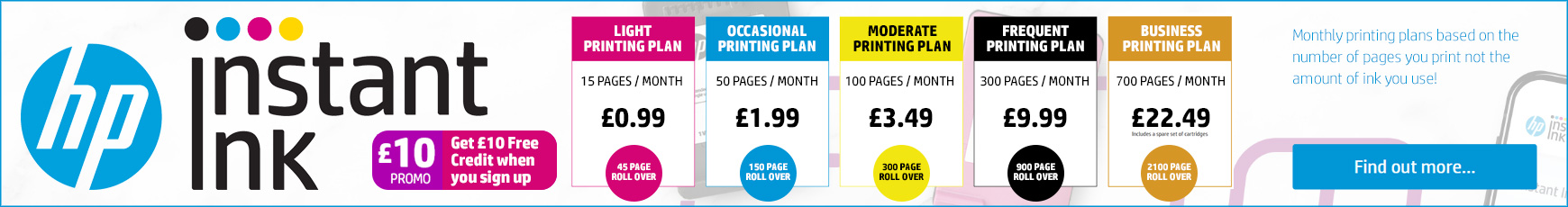 Find out more about HP Instant Ink