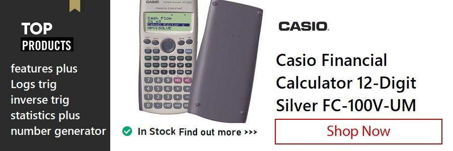 Casio Financial Calculator <TAG>ONLY</TAG>