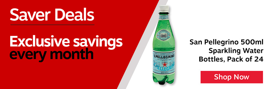 San Pellegrino Sparkling Natural Mineral Water. A premium quality naturally carbonated beverage with a refreshing taste. 500ml. Non returnable.<TAG>Only</TAG>