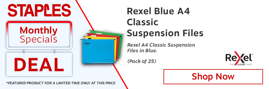 Rexel Classic Suspension Files A4 Blue (Pack of 25) <TAG>ONLY</TAG>