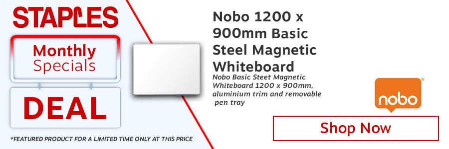 Nobo Basic Steel Magnetic Whiteboard 1200 x 900mm  <TAG>ONLY</TAG>