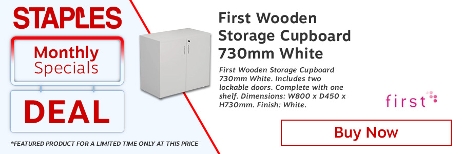 FF First Wooden Storage Cupboard 730mm White <TAG>ONLY</TAG>