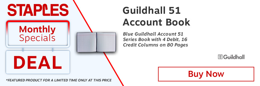 Exacompta Guildhall Account Book 80 Pages <TAG>ONLY</TAG>