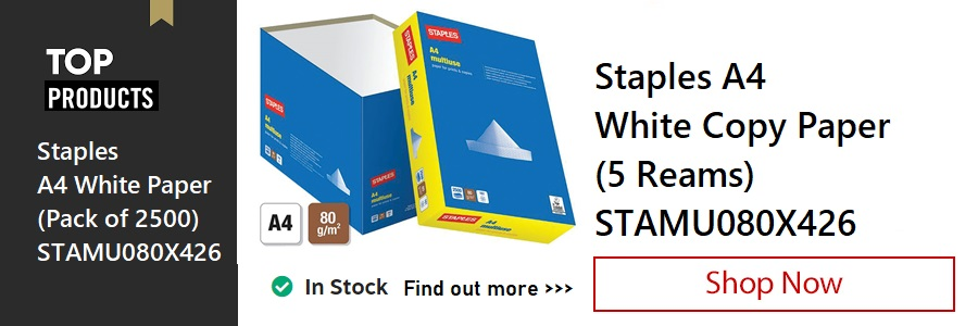 Staples A4 White Copy Paper <TAG>ONLY</TAG>