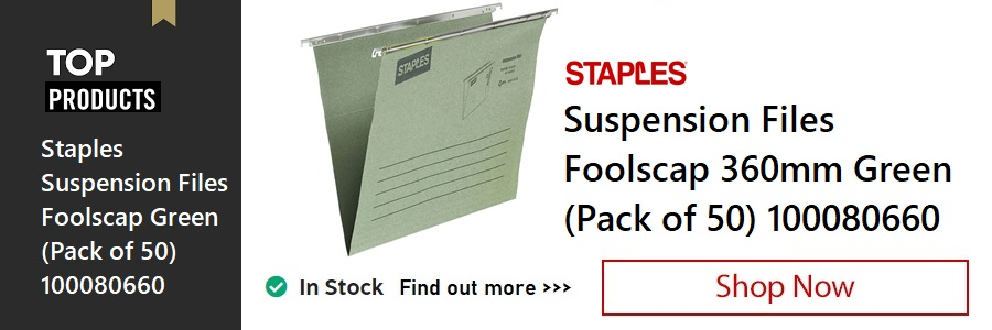Staples Green Suspension Files <TAG>ONLY</TAG>