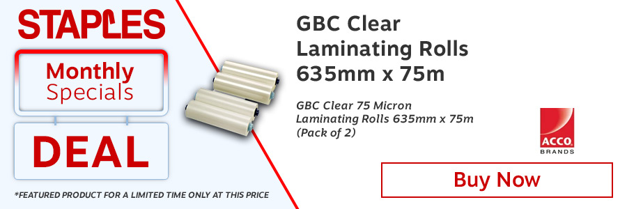 GBC Laminating Roll Film 635mm x75m Clear (Pack of 2) <TAG>ONLY</TAG>