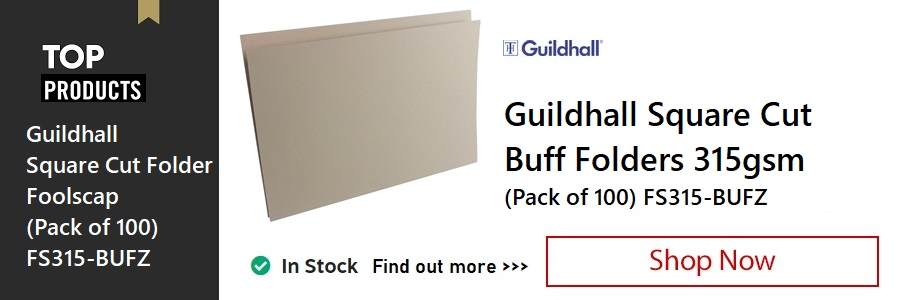 Guildhall Buff Square Cut Folders <TAG>ONLY</TAG>