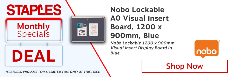Nobo Lockable Visual Insert Board <TAG<ONLY</TAG>