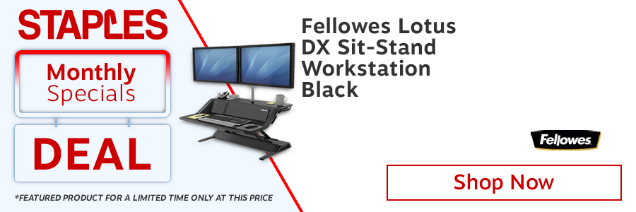 Fellowes Lotus DX Sit-Stand Workstation Black <TAG>ONLY</TAG>