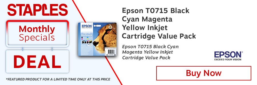 Epson T0715 Black Cyan Magenta Yellow Inkjet Cartridge Value Pack<TAG>Only</TAG>