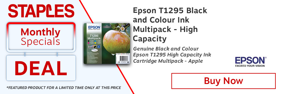 Epson T1295 Black/Cyan/Magenta/Yellow Ink Cartridge (Pack of 4) <TAG>Only</TAG>