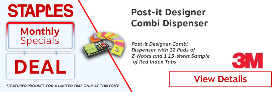 Post-it Designer Combi Note Dispenser with Z-Notes and Index Tabs <TAG>ONLY</TAG>