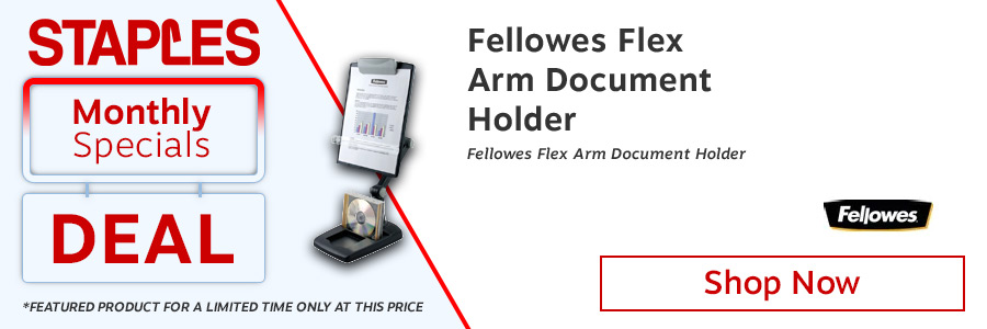 Fellowes Flex Arm Document Holder <TAG>ONLY</TAG>