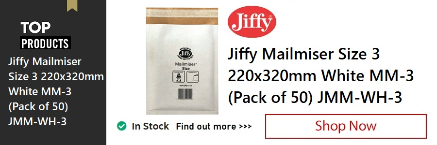 Jiffy Mailmiser Size 3 Envelopes <TAG>ONLY</TAG>