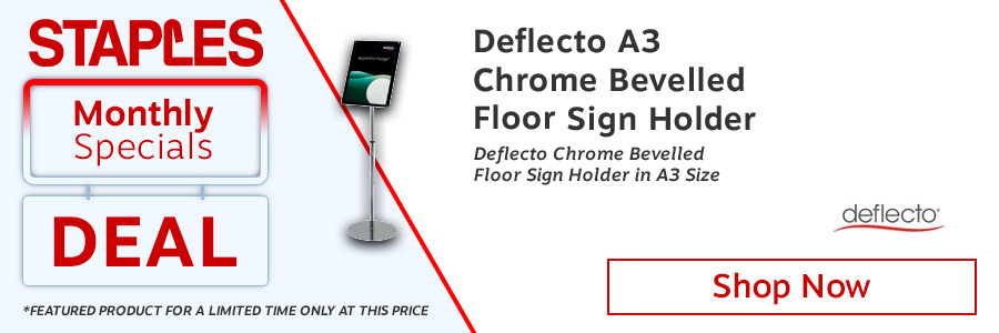 Deflecto Floor Sign Holder A3 <TAG>ONLY</TAG>