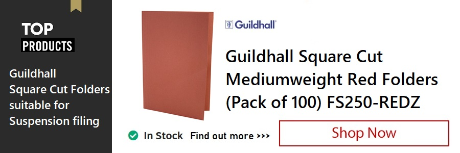 Guildhall Red Square Cut Folders <TAG>ONLY</TAG>