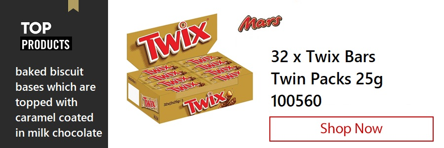 Twix Bars 25g, Pack of 32 <TAG>ONLY</TAG>