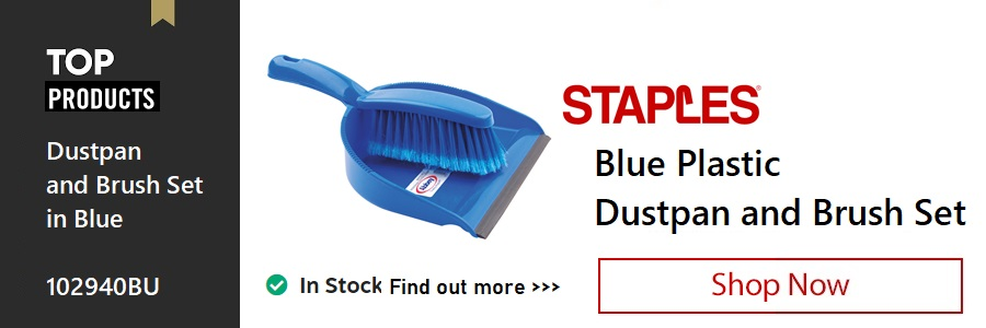 Staples Dustpan and Brush <TAG>ONLY</TAG>