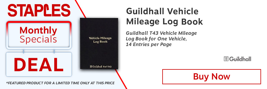 Exacompta Guildhall Vehicle Mileage Log Book <TAG>ONLY</TAG>