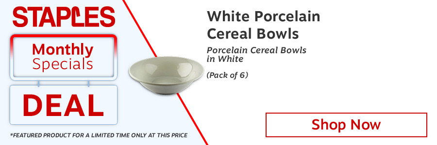 Ideal for breakout rooms kitchens canteens and board rooms. Fully vitrified dishwasher and freezer proof. Made from hardwearing porcelain. Cups saucers and plates also available in this range. Supplied in a pack of 6. Colour: White.<TAG>Only</TAG>
