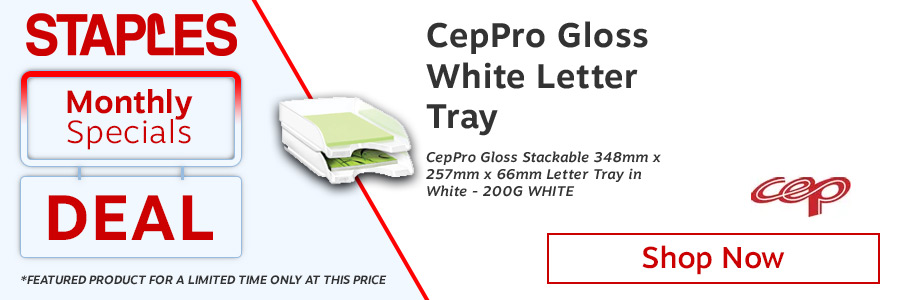 CEP Pro Gloss Letter Tray White 200G <TAG>ONLY</TAG>