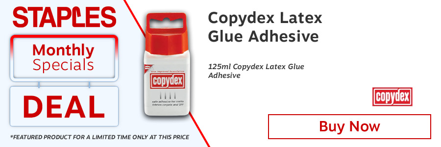 Copydex White Latex Adhesive with Brush Applicator 125ml <TAG>ONLY</TAG>