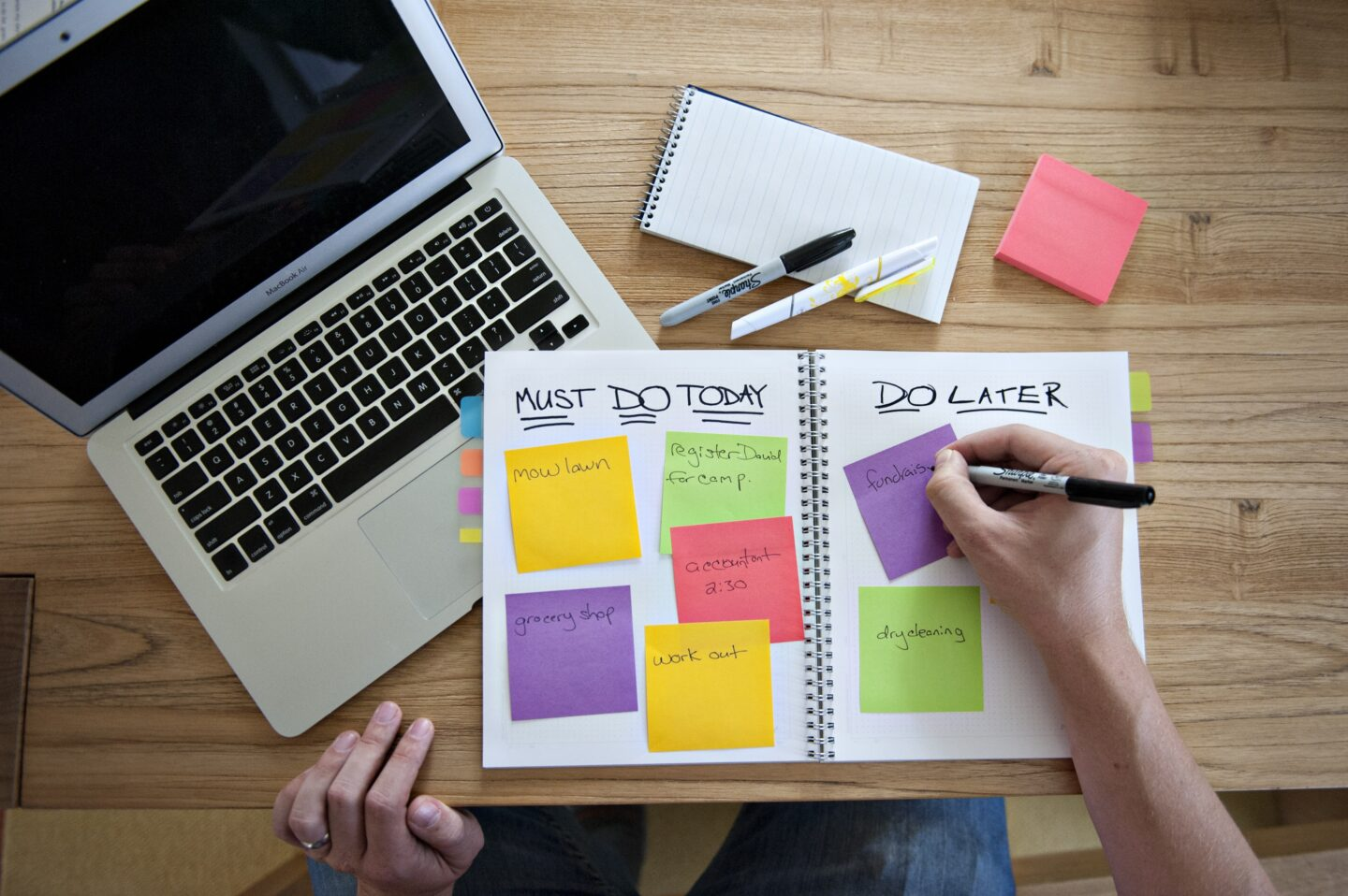 Post-it diary management