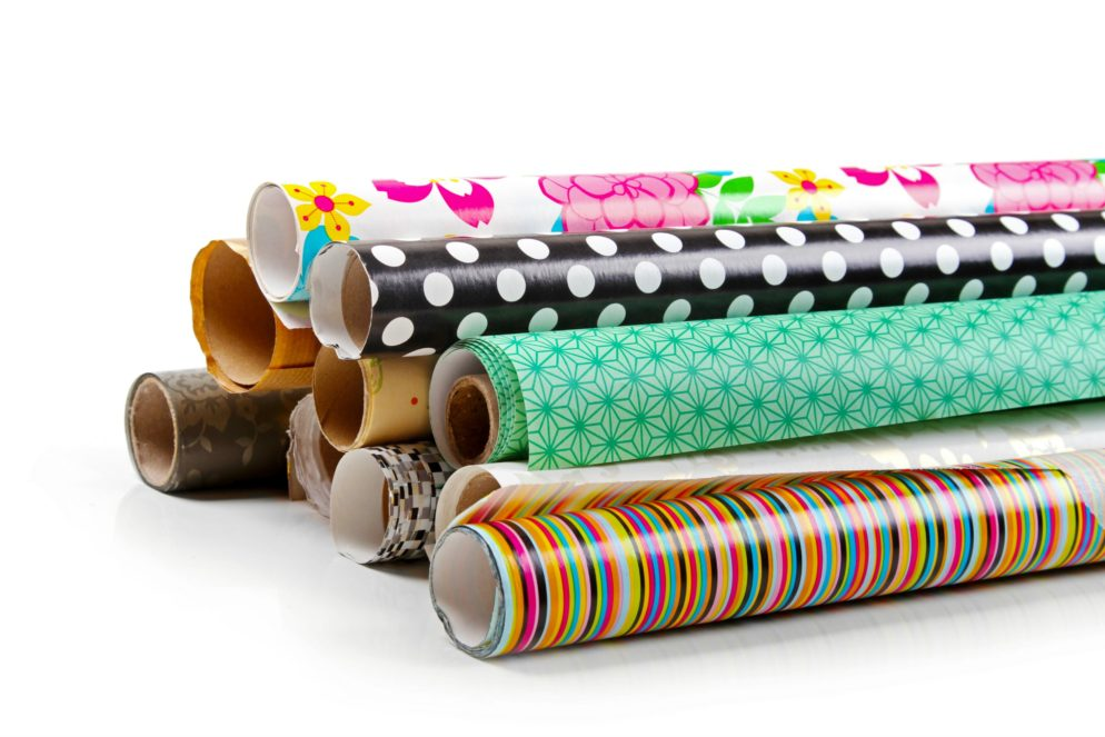 design and print wrapping paper and gift tags